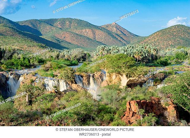 Namibia, Kunene, Kaokoland, Epupafalls of Kunene, river on the border to Angola in Kaokoland