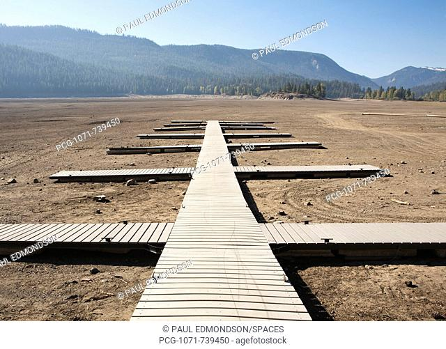 Boat Dock on Dry Lakebed