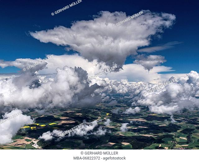 Cloud formation above Upper Swabia