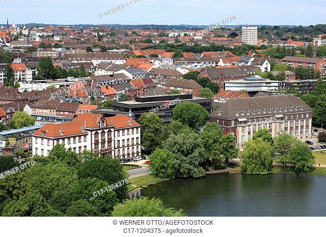 Germany, Kiel, Kiel Fjord, Baltic Sea, Schleswig-Holstein, panoramic view, Kleiner Kiel, Justice Ministry, former Higher Regional Court