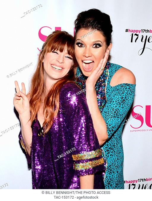 Laura Kirkpatric and Brittany Brower attends SU Magazine's 17th Anniversary Celebration in Hollywood, California at Avalon on August 12, 2017