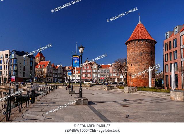 Swan bastion. Gdansk, Pomeranian Voivodeship, Poland