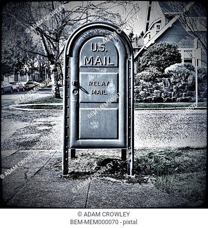 US mailbox on neighborhood corner