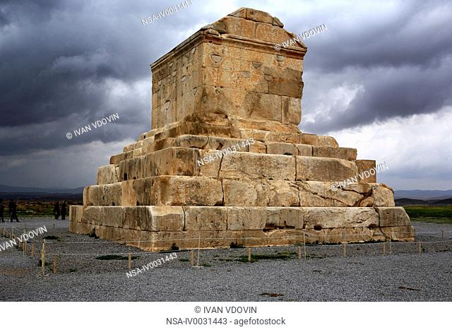 Tomb of Cyrus the Great 6th century BC, UNESCO World Heritage Site, Pasargadae, province Fars, Iran