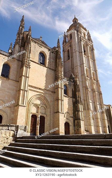 Segovia, Segovia Province, Spain  16th century Gothic style cathedral