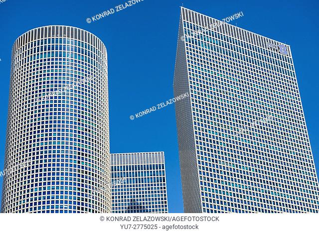 Azrieli Center Circular, Triangular and Square Towers in Tel Aviv city, Israel