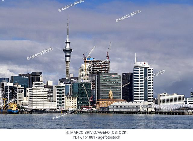 The skyline of Auckland New Zealand