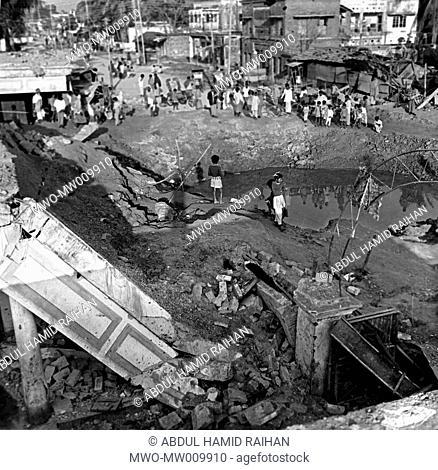 New Market of Kushtia, destroyed by Allied bombing December 11, 1971 The Bangladesh Liberation War or Mukti Juddho in Bangla