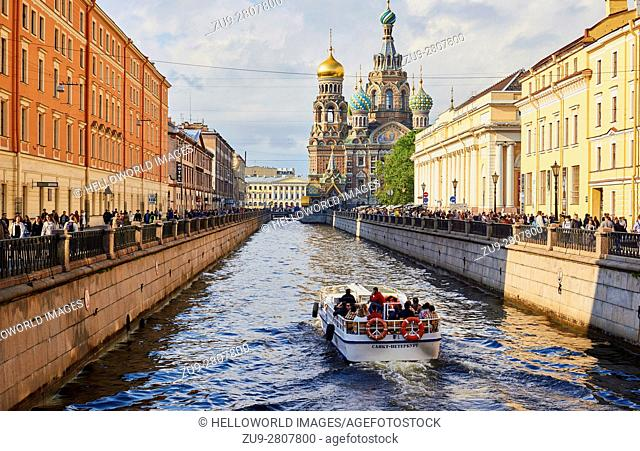 Griboedov Canal and Church on Spilled Blood, St Petersburg, Russia