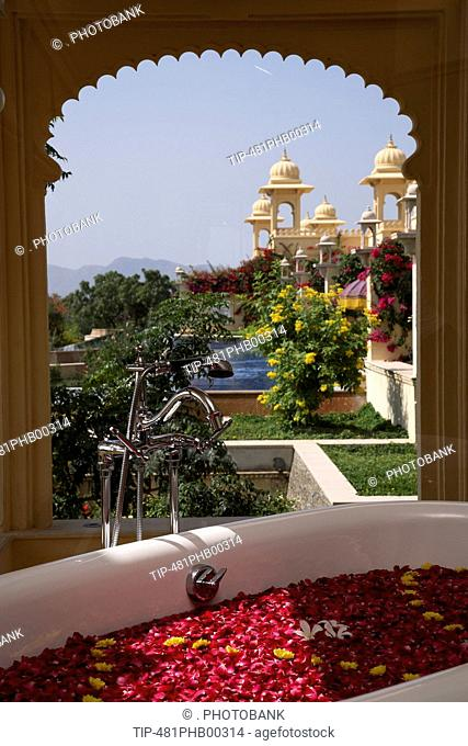 Milk with Rosewater Bath at the Spa at Udaivila, Jaipur, India
