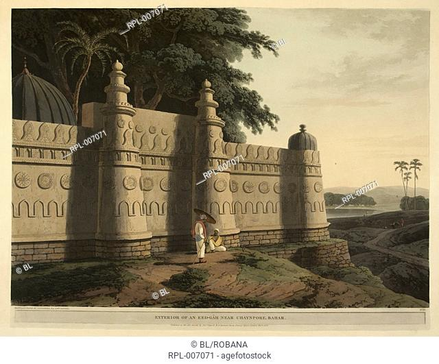 An eed-Gah near Chaynpore Exterior of an eed-Gah near Chaynpore Bahar. Image taken from Antiquities of India. Twelve or rather twenty-four views from the...