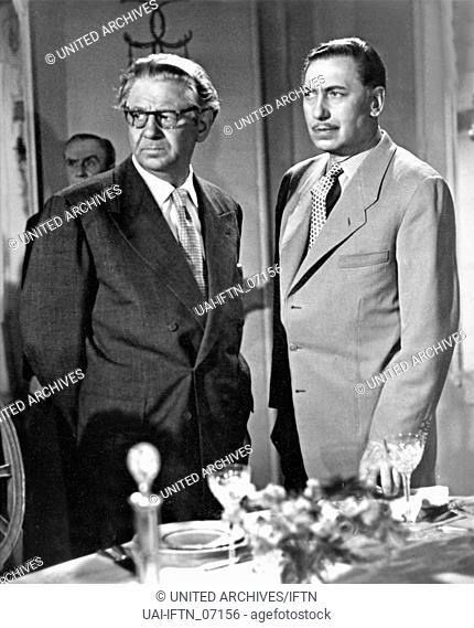 Mein Herz darfst Du nicht fragen, Deutschland 1952, Regie: Paul Martin, Darsteller: Willy Birgel, Paul Hörbiger (links)
