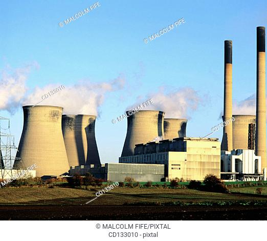 Coal-fired power station near Legos. Yorkshire. England