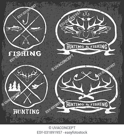 Hunting vintage emblem Stock Photos and Images | age fotostock