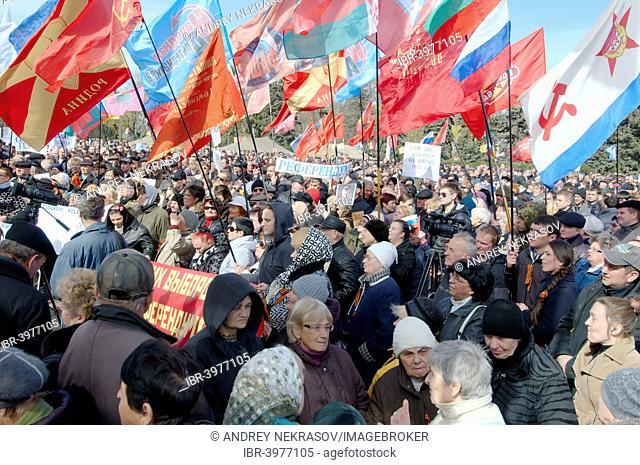 Ukraine conflict, protest meeting of the People's Assembly Antimaidan, Kulikovo Field, Odessa, Ukraine