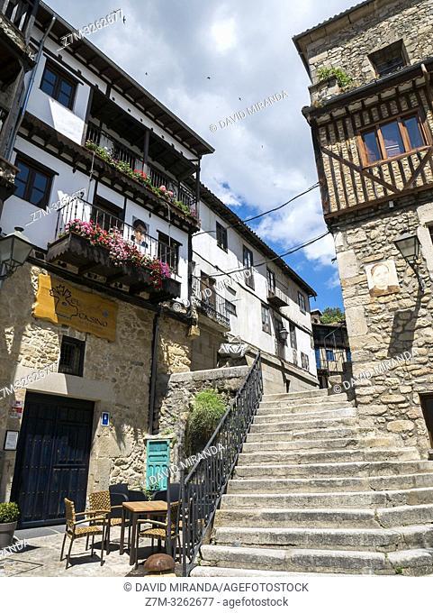 Arquitectura tradiconal en Mogarraz. Sierra de Francia. Salamanca. Castilla León. España