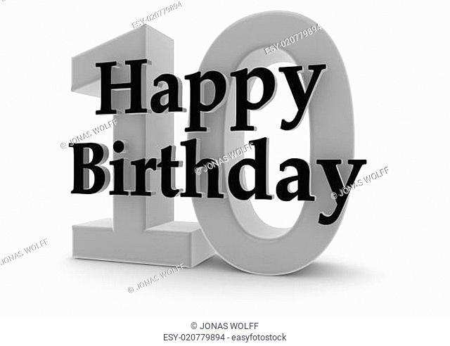 Happy Birthday for 10th birthday