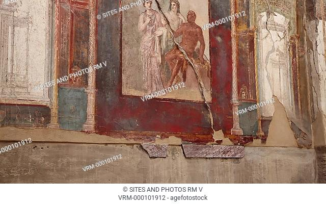 TILT up, PAN, CU, interior. This was a collegial shrine of the Imperial cult, that was built during the reign of Augustus 27 BC - 14 AD by the brothers A