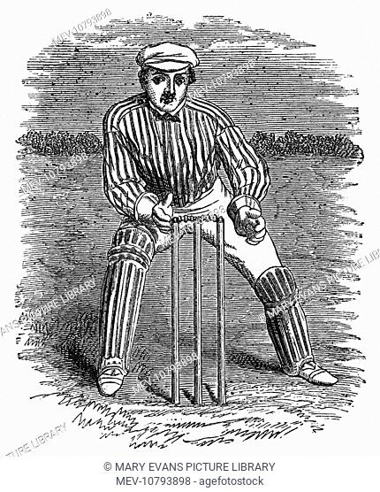 A wicket keeper demonstrating the correct way of how to wicket keep