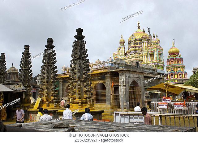 JEJURI, PUNE DISTRICT, MAHARASHTRA, August 2018, Devotee at Lord Khandoba temple