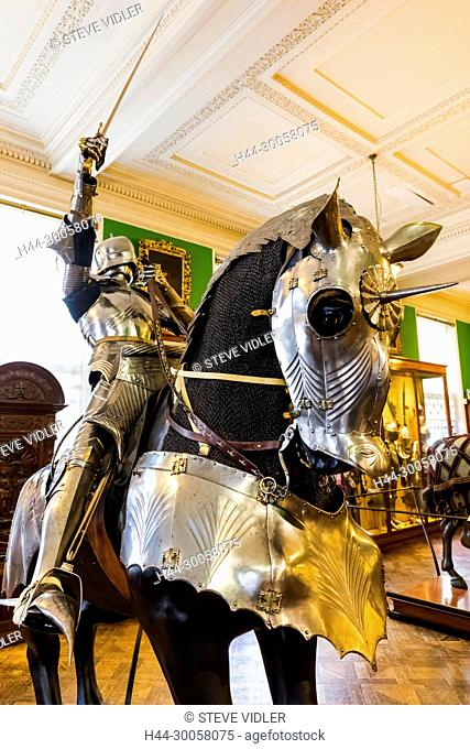 England, London, Hertford House, The Wallace Collection, The European Armoury Display of Medieval Armour