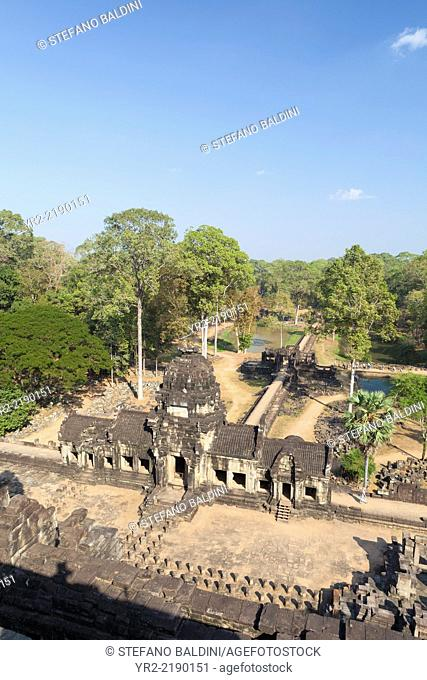 View from the top of the Baphuon temple, Angkor Thom, Siem Reap, Cambodia