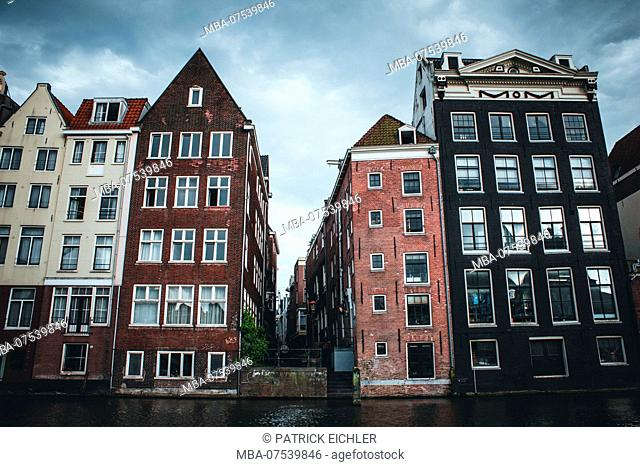 Netherlands, North Holland, Amsterdam, Houses on the Amstel River