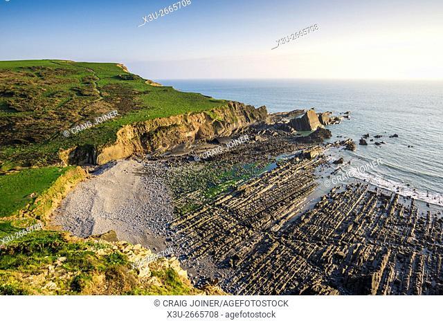 Blegberry Beach on the North Devon coast near Hartland, England