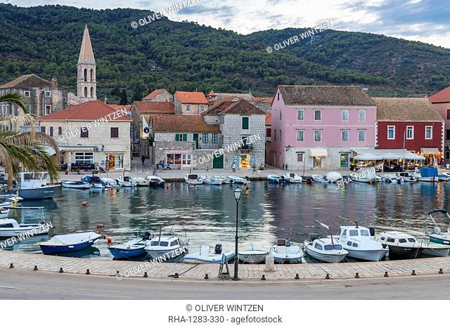 The old town of Stari Grad on Hvar Island, Croatia, Europe