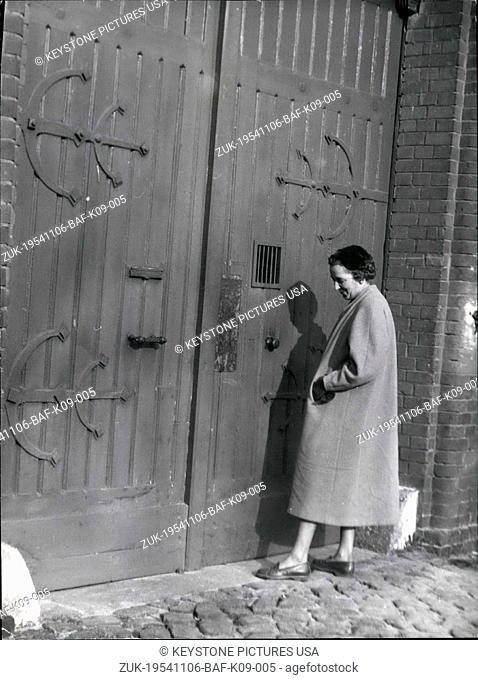 Nov. 06, 1954 - Winifried von Mackensen, the daughter of 81 year old former foreign minister Konstantin von Neurath, who, in a surprise