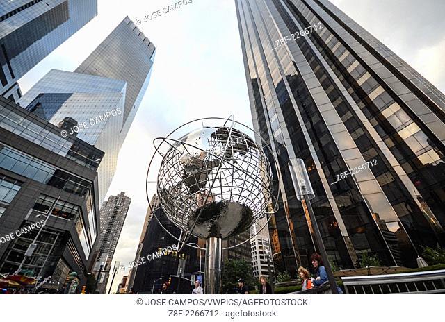 Globe sculpture, Columbus Circle