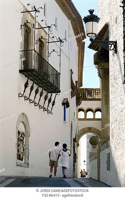 Racó de la Calma, Maricel Museum facade. Sitges, Barcelona province, Catalonia, Spain