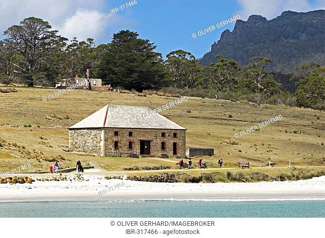 Historic architecture in the penal colony of Darlington, Maria Island National Park, Tasmania, Australia