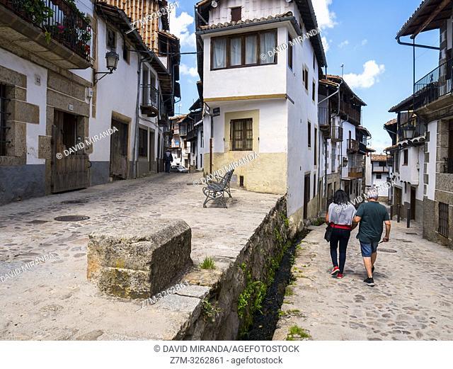 Calle típica de Candelario. Salamanca. Castilla León. España