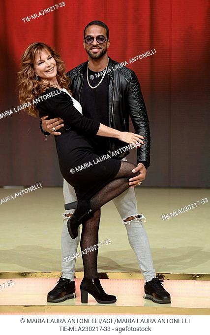 Giuliana De Sio and Maikel Fonts during the photo call of talent show ' Ballando con le stelle ' Rome, ITALY-23-02-2017