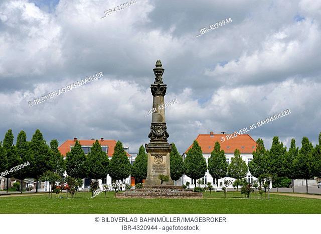 Marktplatz, Rondellplatz or Circus square, Putbus, Rügen, Mecklenburg-Western Pomerania, Germany