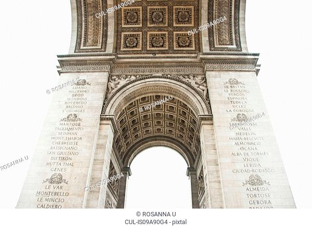 Under Arc de Triomphe, Paris, France