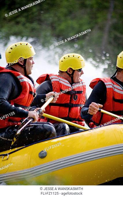 Rafting on Spokane River, Spokane, Washington
