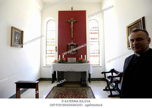 Cardinal Beran's chapel in the Nepomucenum Papal college is seen in Vatican in April 20, 2018. The remains of Cardinal and Prague Archbishop Josef Beran...