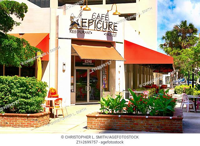 Cafe Epicure at 1298 North Pam Ave in downtown Sarasota, FL