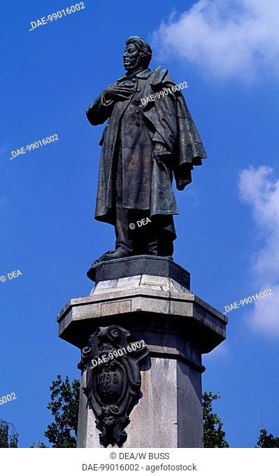 Statue of Adam Mickiewicz, Warsaw (Warsaw's historic center, UNESCO World Heritage List, 1980), Poland