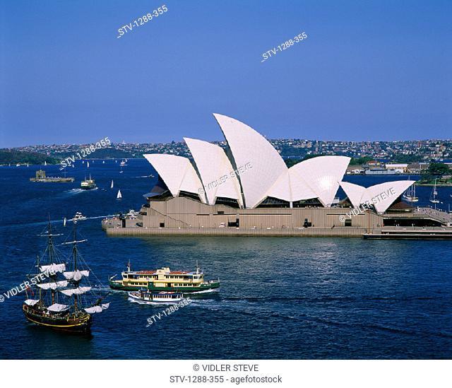 Arts, Australia, Entertainment, Harbor, Harbour, Holiday, House, Landmark, Opera, Ships, Skyline, Sydney, Tourism, Travel, Vacat