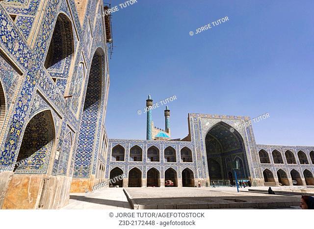 Inside Imam Mosque, Isfahan, Iran