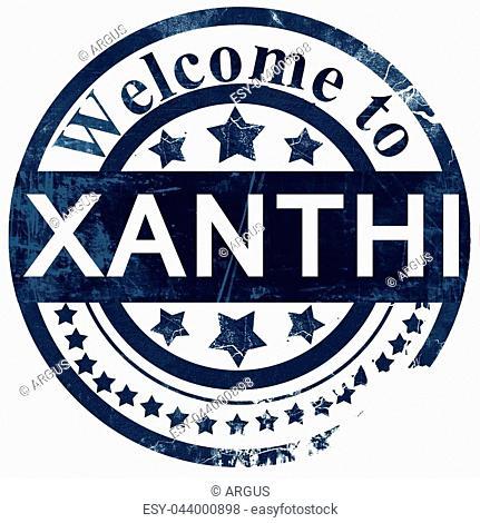 Xanthi stamp on white background