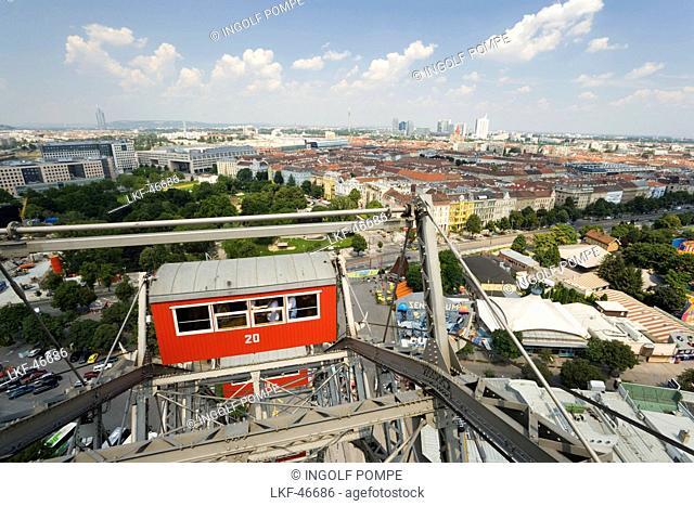 Gondola of Ferris wheel, Prater, Vienna, Austria