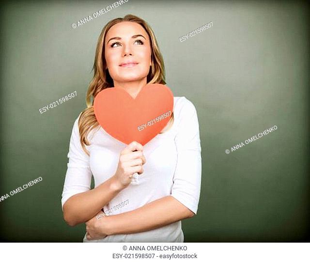 Dreamy girl in love