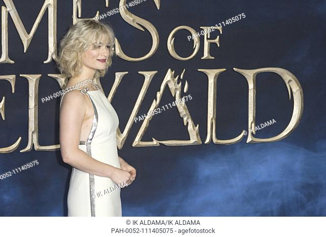 Alison Sudol attends Fantastic Beasts The Crimes of Grindelwald - UK Premiere. London, UK. 13/11/2018 | usage worldwide