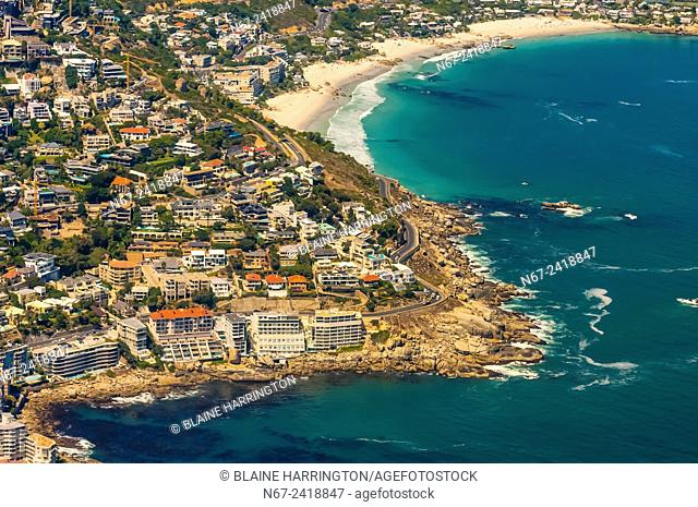 Aerial View, coastline, Cape Town, South Africa