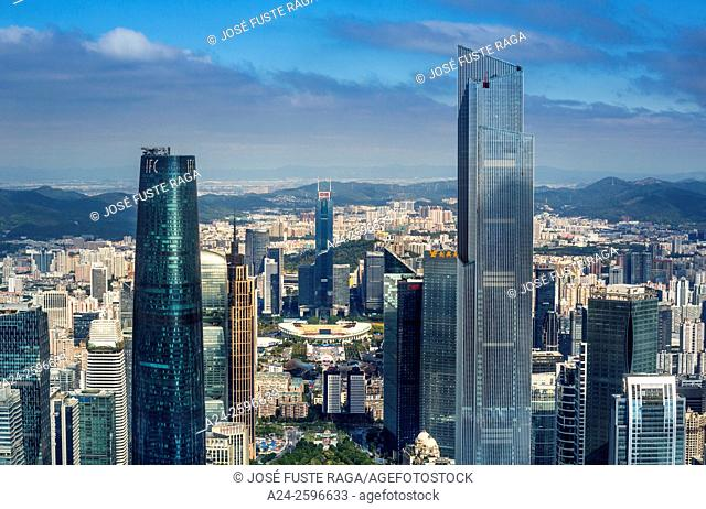 China, Guangdong Province, Guangzhou City, Wuyang New Town, International Financial Center and East Tower
