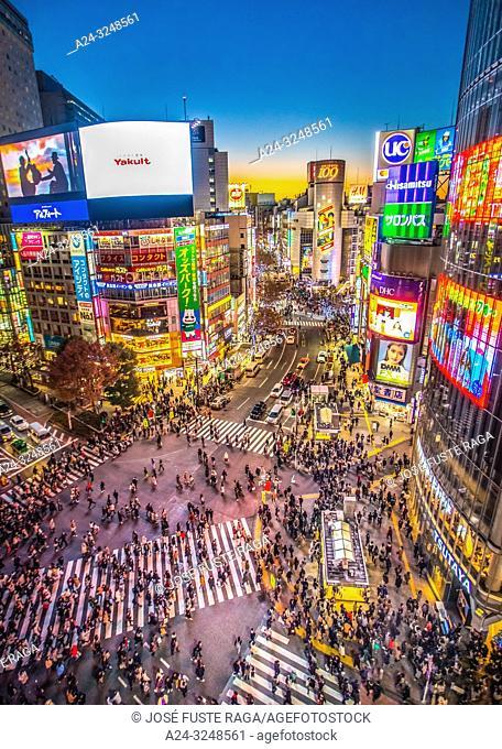 Japan, Tkyo City, Shibuya Station, Hachiko Crossing